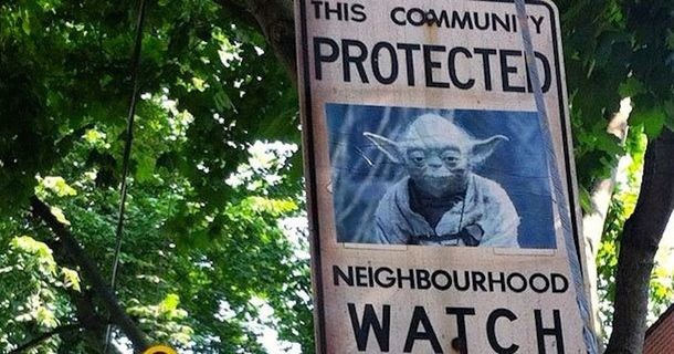 Neighborhood Watch Fails To Stop Vandal From Trolling Their Signs